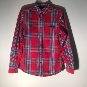3/$20 Old Navy Slim Fit Plaid Shirt J13